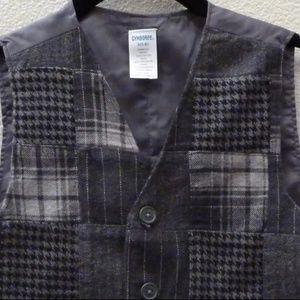 Gymboree Shirts & Tops - Gymboree Festive Holidays Grey Patchwork Vest 7-8